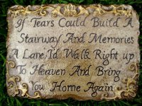 Memorial - Plaque If Tears Could Build A Stairway Rectangle