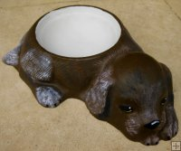 Hand Painted - Pet Bowl Dog