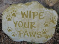 Plaque - Wipe Your Paws