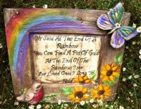 Personalised - Hand Painted Plaque Wood Look Frame