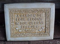 Plaque - A Garden Of Love Blooms In Our Hearts Forever