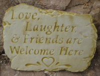 Plaque - Love Laughter And Friends Are Welcome Here