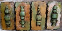 Plaque - Topiary Distressed Set Of 4