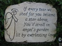 Memorial - Plaque If Every Tear We Shed