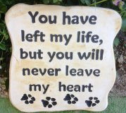 Memorial - Pet Plaque You Have Left My Life But You Will Never Leave My Heart