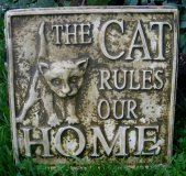 Plaque - The Cat Rules Our Home