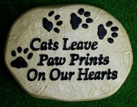 Memorial - Pet Cats Leave Paw Prints On Our Hearts