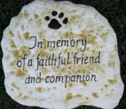 Memorial - Pet In Loving Memory Of A Faithful Friend And Companion