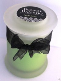 Candle - Soy Medium Frosted Jar With Lid