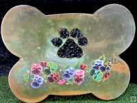 Memorial - Pet Plaque Bone With Pet Paw