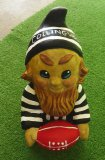 Hand Painted - Plaque Gnome Footy Collingswood