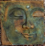 Plaque - Buddha Thai Face Smooth Square Large