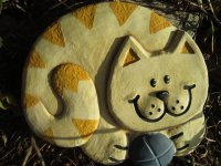 Hand Painted - Plaque Cat With Ball