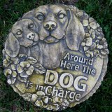 Plaque - Around Here The Dog Is In Charge