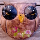Hand Painted - Plaque Owl Smooth Hooter Eyes