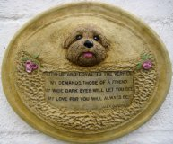 Hand Painted - Plaque Dog Faithful Friend And Companion To The Very End