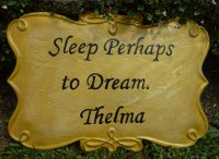 Hand Painted - Plaque Memorial Thelma