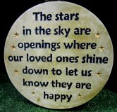 Memorial - Plaque The Stars In The Sky Are Openings Where Our Love Ones Shine