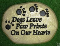 Memorial - Pet Dogs Leave Paw Prints On Our Hearts