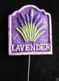 Hand Painted - Stake Herb Small Lavender