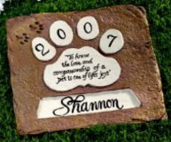 Personalised - Hand Painted Plaque Memorial Square Pet Paw Large
