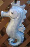 Hand Painted - Plaque Sea Horse Smooth