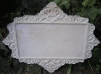 Plaque - Raw Filigree Rectangle