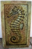 Plaque - Sea Horse Rectangle Large