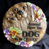 Hand Painted - Plaque Around Here The Dog Is In Charge