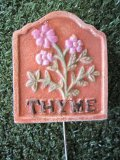 Hand Painted - Stake Herb Small Thyme