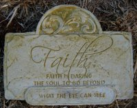 Plaque - Faith Rectangle
