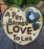 Hand Painted - Plaque A Pet Brings Love To Life