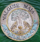 Personalised - Hand Painted Plaque Round Tree