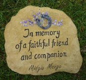 Hand Painted - Memorial Personalised For A Horse