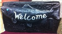 Hand Painted - Plaque Fish Welcome