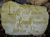 Plaque - Live Your Dreams Everyday Laugh Together And Find True Love