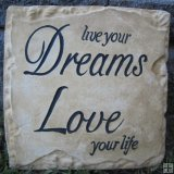 Hand Painted - Plaque Live Your Dreams Love Your Life