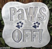 Plaque - Paws off