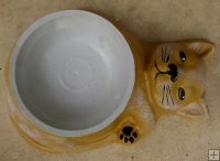 Hand Painted - Pet Bowl Cat