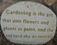 Plaque - Gardening Is The Art
