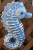 Hand Painted - Plaque Sea Horse Detailed