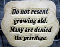 Hand Painted - Plaque Do Not Resent Growing Old Many Are Denied The Privilege