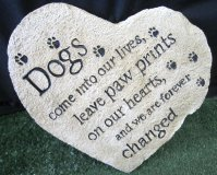 Memorial - Heart Dogs Come Into Our Lives, Leave Paw Prints On Our Hearts And We Are Forever Changed