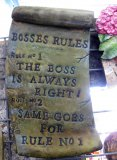 Plaque - Bosses Rules