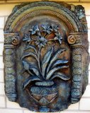 Plaque - Grecian Floral Large Verdi Rust